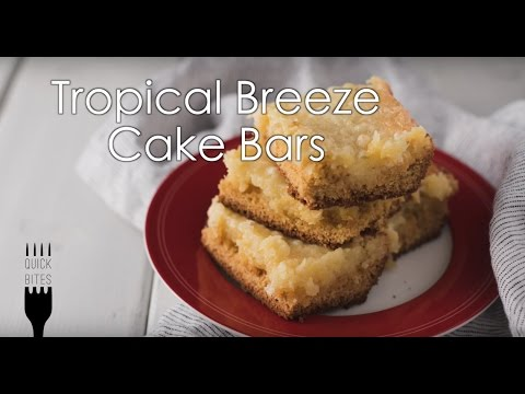 Tropical Breeze Cake Bars