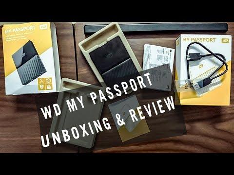 WD(Western Digital) MY Passport 2TB Portable external hard disk Unboxing & Speed test Review telugu
