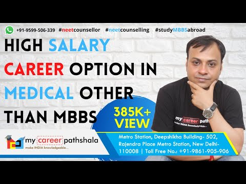 High Salary career option in medical other than MBBS