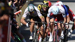 tour de france peter sagan kicked out of race over cavendish crash