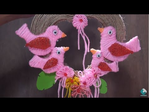 DIY Wall Decor, How To Make Ceiling Hanging Bird Decorations, Wall Hanging Decoration