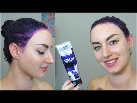 DYING MY HAIR DARK PURPLE AT HOME  | JustEnufEyes