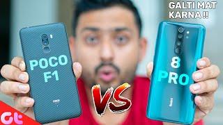 Xiaomi Redmi Note 8 Pro vs Poco F1 Full Comparison with Camera and Gaming | GT Hindi