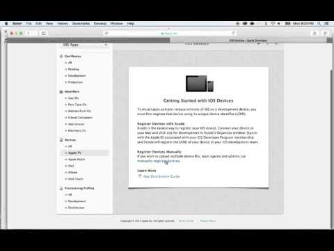 How to use your apple TV for development ,  register the UDID device