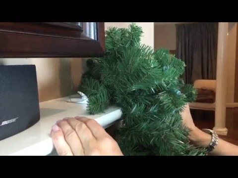 How to Center your Garland and Attach it to the Mantel (Part 2 of 9)