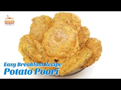 Aloo Puri Recipe - Potato Poori Recipe - Wheat Flour Potato Poori - breakfast Recipe - Kids Recipe