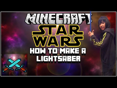 Minecraft: How To Make A Star Wars Lightsaber