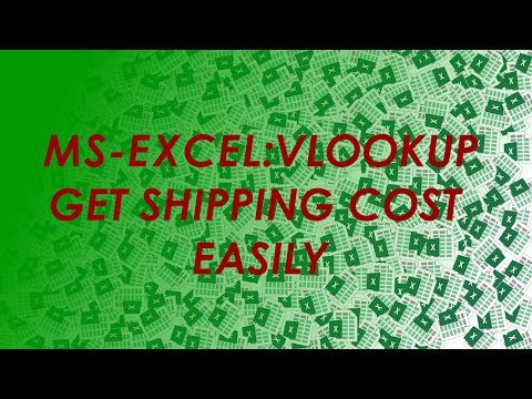 How To :Calculate Shipping Cost Using VLOOKUP -Simplified