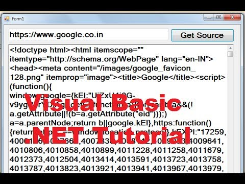 Visual Basic .NET Tutorial 56 - Get Source Code From Website using VB.NET