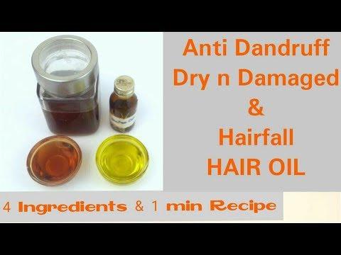 1 min HAIR OIL, Anti Dandruff, Dry and Damaged hair, Hair Fall Oil, घर पर बनाये तेल बालों का उपचार