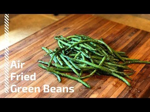 Air fried green beans| How to cook green beans in an air fryer.