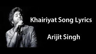 Arijit Singh Khairiyat Puchho Full Song Lyrics Chhhichore Movie | Arijit Singh Khairiyat Song Lyrics