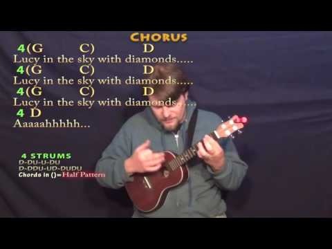 Lucy In the Sky With Diamonds (The Beatles) Ukulele Cover Lesson with Chords/Lyrics