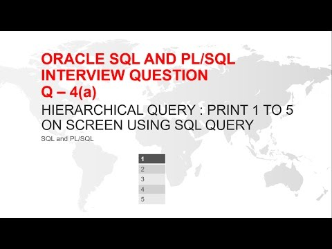 ORACLE SQL AND PL/SQL INTERVIEW QUESTION : PRINT 1 TO 5 USING SQL