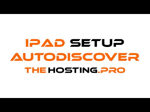 How to setup TheHosting.Pro e-mail account with iPad/iPhone using Autodiscover option