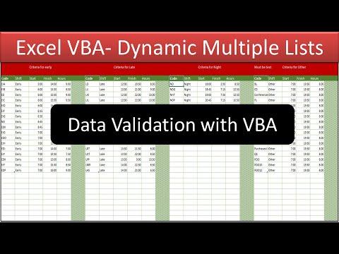Dynamic Data Validation Lists with VBA