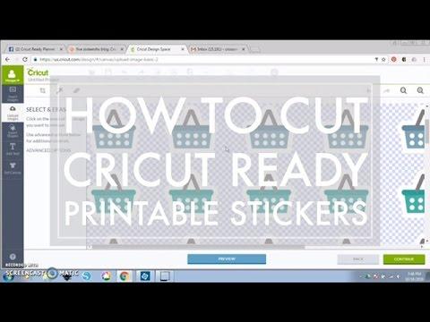 How to Cut Cricut Ready Printable Stickers using Cricut Explore // 516vlogs