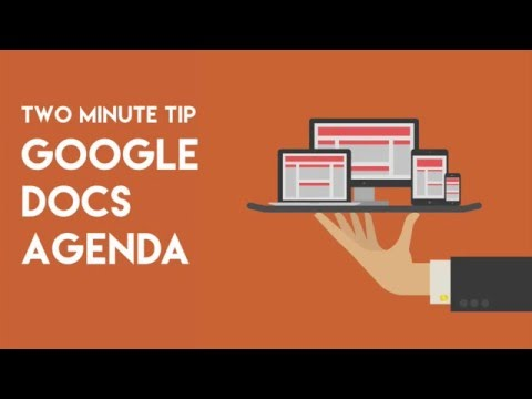 Use Google Docs for your meeting agenda