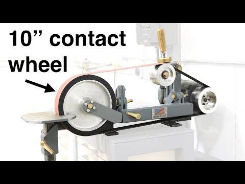 Belt grinder contact wheel attachment