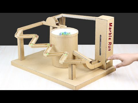 DIY Marble Run Game Machine From Cardboard at Home
