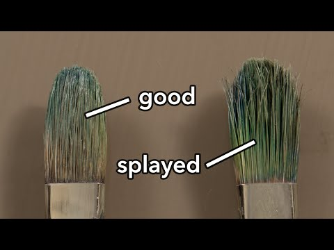 easy way to take care of oil paintbrushes