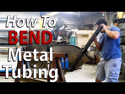 How to BEND square metal tubing - By Hand the easy way