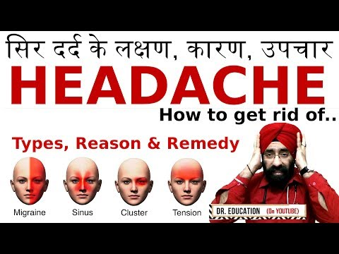 How to Treat सर दर्द Migraine/ Tension/ Sinus/ Cluster Headache - Reason, Remedy| Dr.EDUCATION