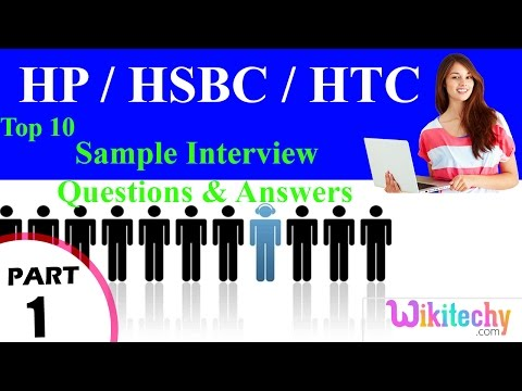 hp | hsbc | htc  top most interview questions and answers for freshers / experienced