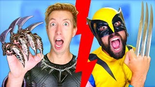 Wolverine vs Black Panther - Epic Weapon Battle Challenge