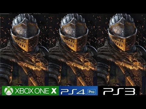 Dark Souls Remastered - Xbox One X vs PS4 Pro vs PS3 Graphics Comparison, Including Blighttown