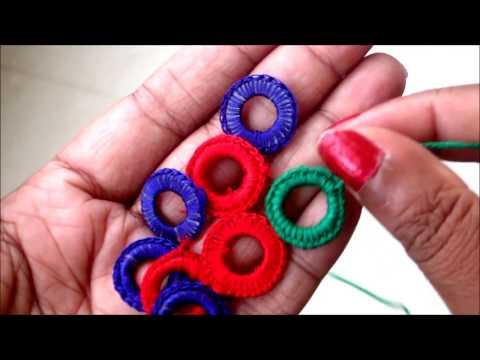 Mirror Frames / Mirror Rings Hand made for Necklines, Blouses, Sari Laces, Lehenga Borders, Dupatta