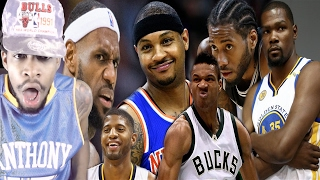 THE DISRESPECT! HAD TO TURN OFF THE VIDEO! RANKING EVERY SMALL FORWARD IN THE NBA REACTION!