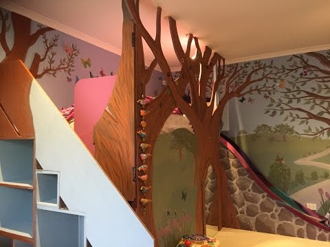 Dad builds Epic Tree House Loft Bed (long version)