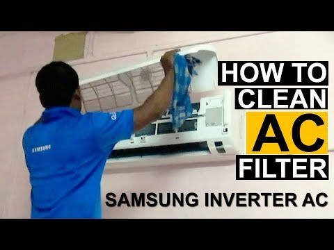 How To Clean Split Air Conditioner Filter |  Clean Samsung Invert AC