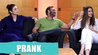 PRANK Moment With Ajay Devgn, Tabu and Rakul Preet | De De Pyaar De movie