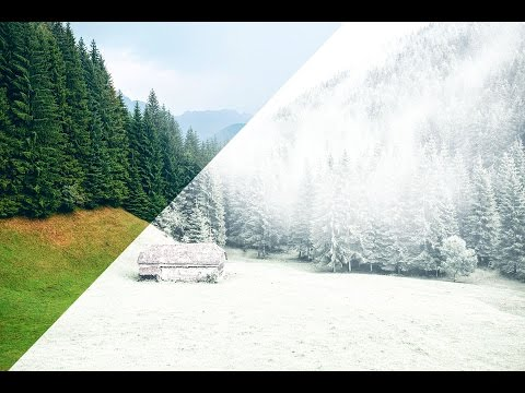 How to create snowfall effect quickly in adobe Photoshop CS6