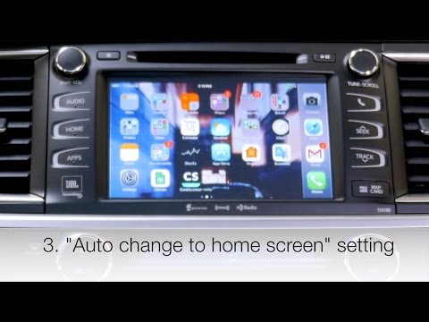 Changing screen settings for 2014-2018 Toyota touch screen radio