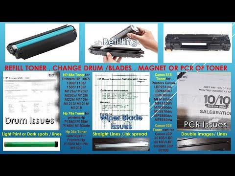 How to refill Hp 88a hp 36a hp 78a canon 925 canon 128 canon 313 toner refill