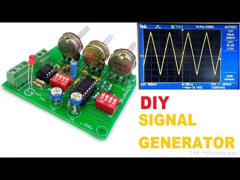 How to make a Signal Generator | Function Generator DIY| Sine,Triangle and Square Waveforms
