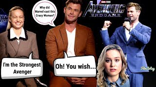 Download Avengers: Endgame | Chris Hemsworth and Brie Larson Funny Feud Moments | 2019 Video