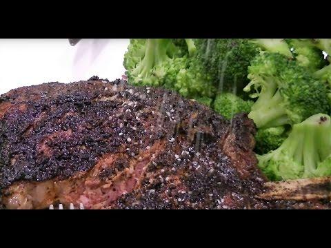 Coffee Crusted Prime Bone In Ribeye Steak - WOW!
