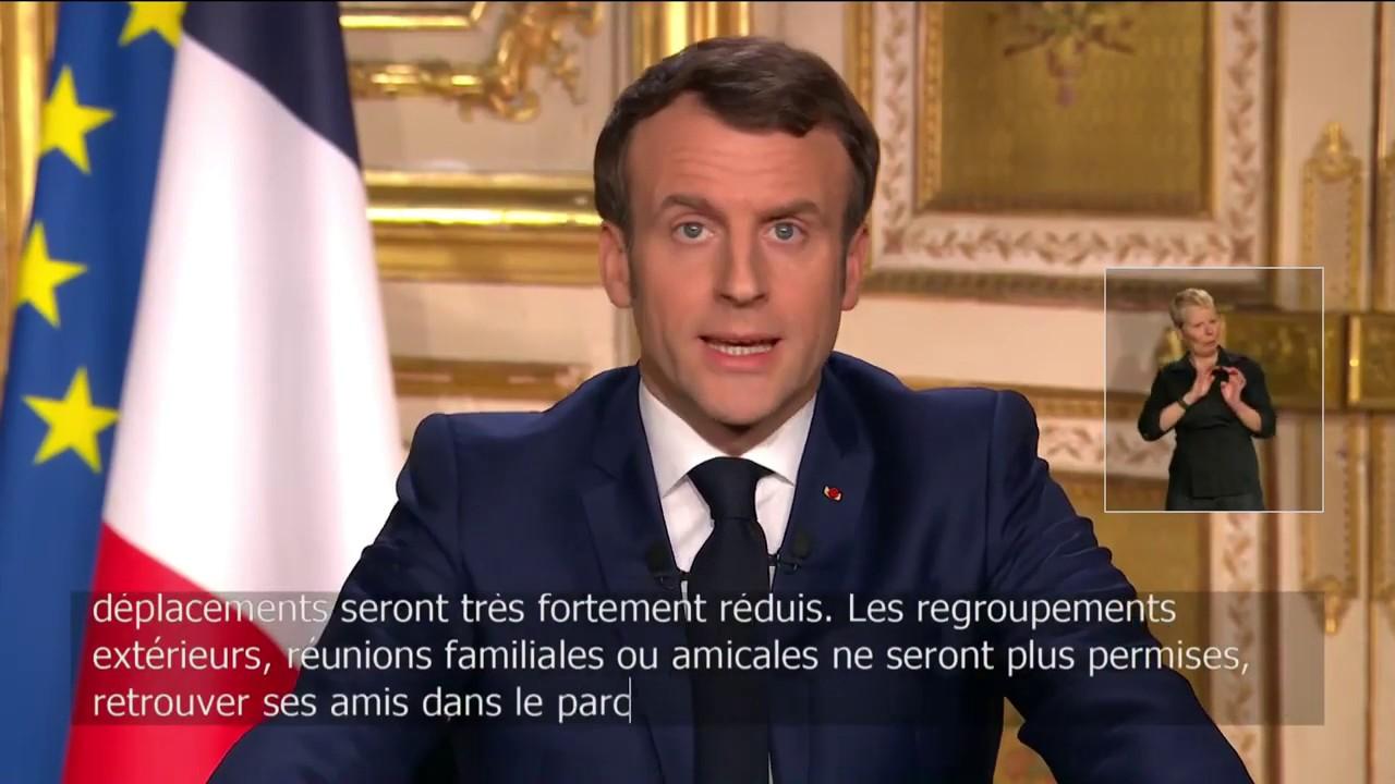 Macron, discours du 16 mars 2020