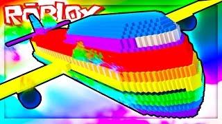 SURVIVE AN INSANE RAINBOW PLANE CRASH! (Roblox Rainbow Plane Crash Survival)