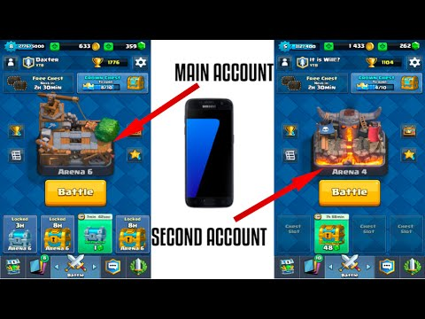 How to get a second Clash Royale account on the same device