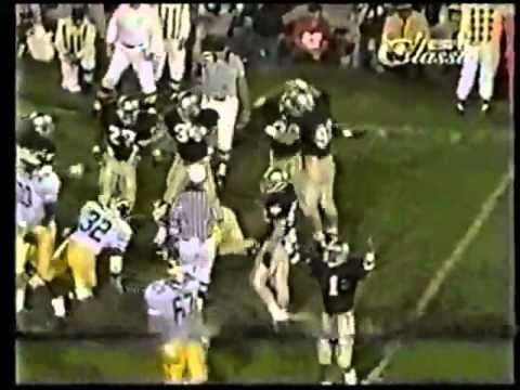 Notre Dame vs Michigan 1988 Highlights