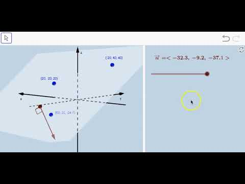 Normal Vector to a Plane:  Dynamic Illustration