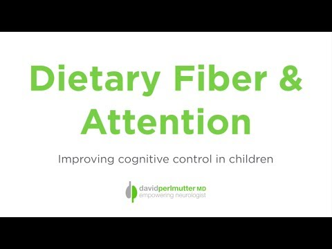 Dietary Fiber & Attention: Improving Cognitive Control in Children