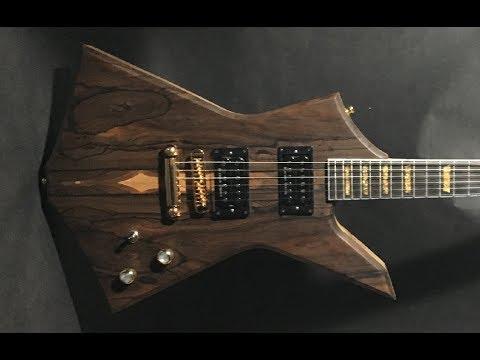 Handmade Electric Guitar Body Build Ziricote/Black Limba