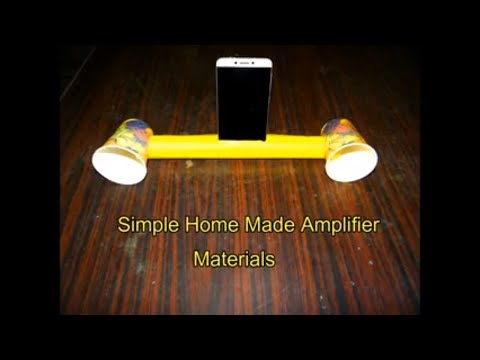 How to make a simple Amplifier at home by Paper Cups