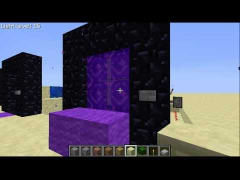 Minecraft Automated Nether Portal + Activation Detector